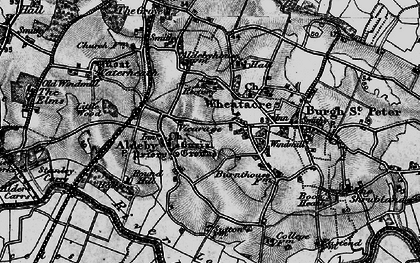 Old map of Aldeby in 1898
