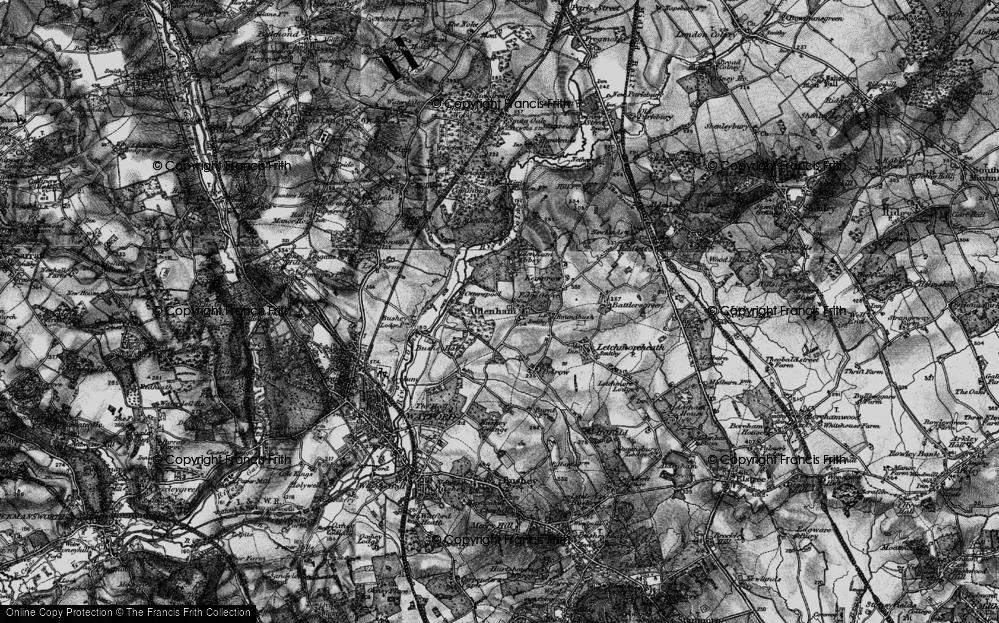 Old Map of Aldenham, 1896 in 1896
