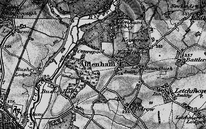 Old map of Aldenham in 1896