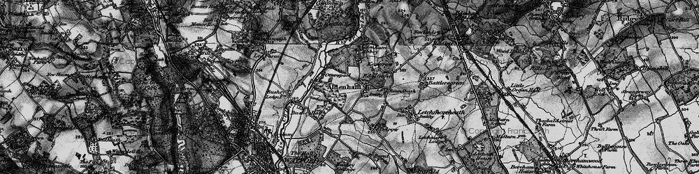 Old map of Aldenham in 1896