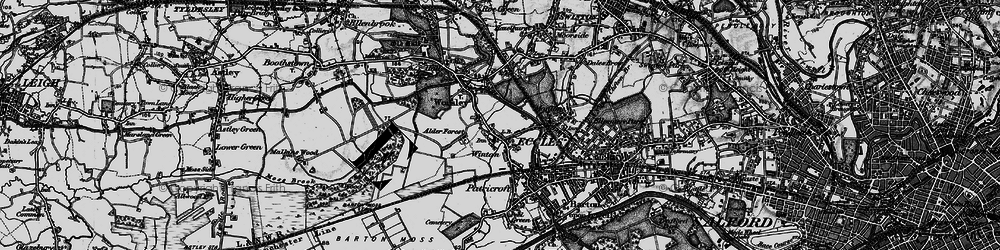 Old map of Alder Forest in 1896