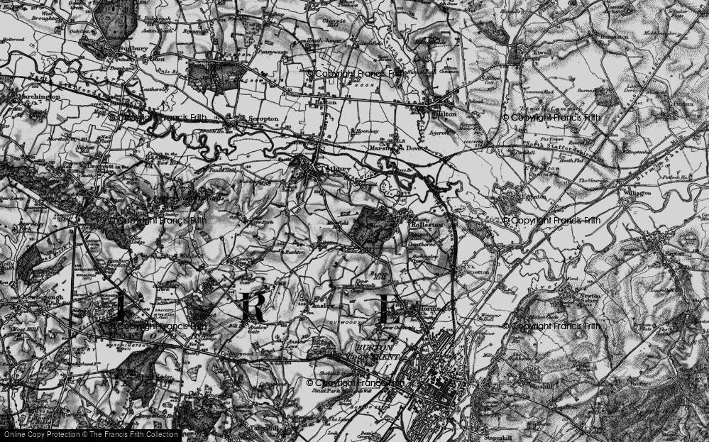 Old Map of Alder Moor, 1897 in 1897
