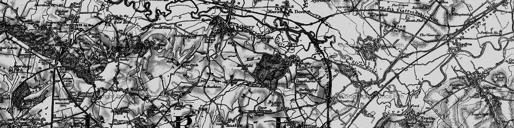 Old map of Alder Moor in 1897
