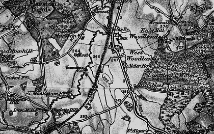Old map of Alder Row in 1898