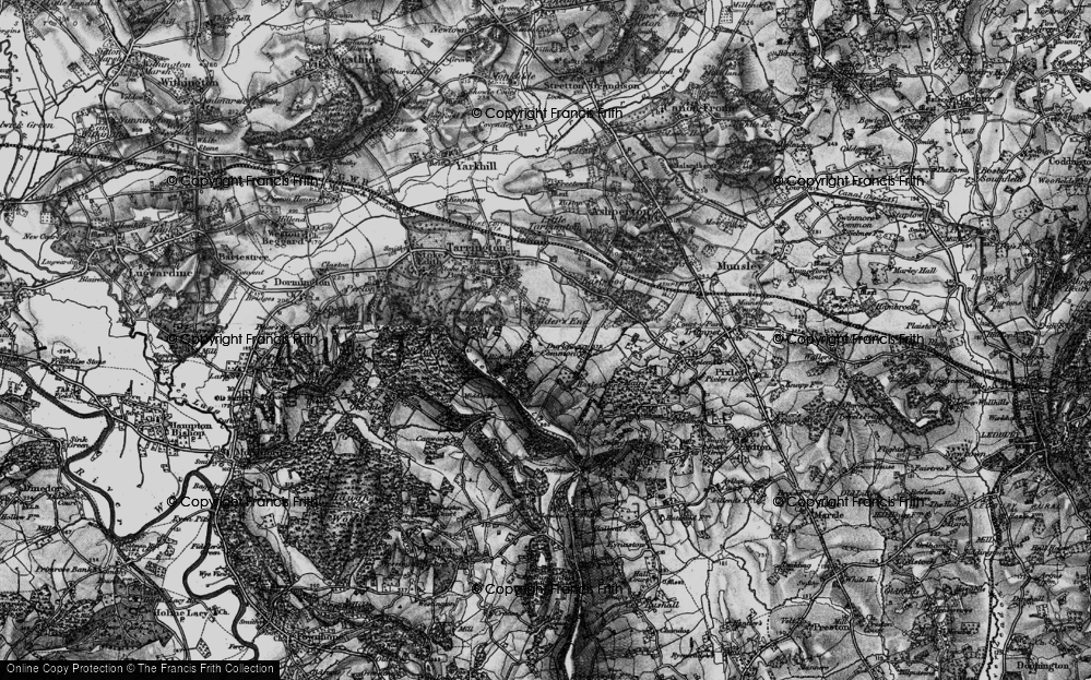 Old Map of Alder's End, 1898 in 1898