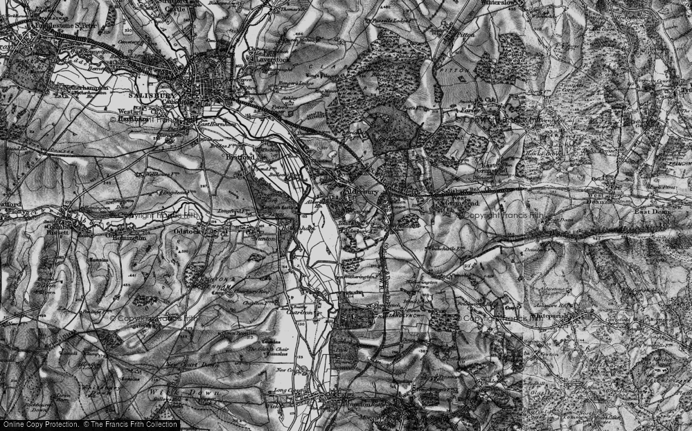Old Map of Historic Map covering Alderbury Ho in 1895