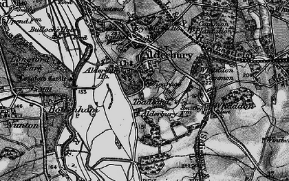 Old map of Alderbury Ho in 1895
