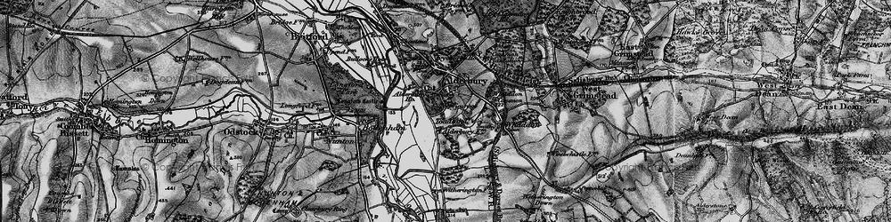 Old map of Alderbury in 1895