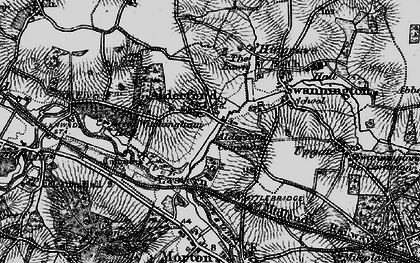 Old map of Alderford in 1898