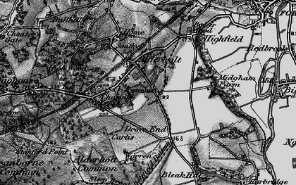 Old map of Alderholt in 1895