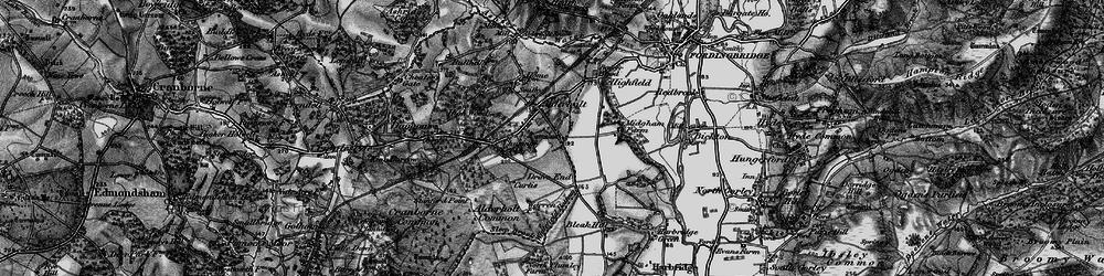 Old map of Alderholt in 1895