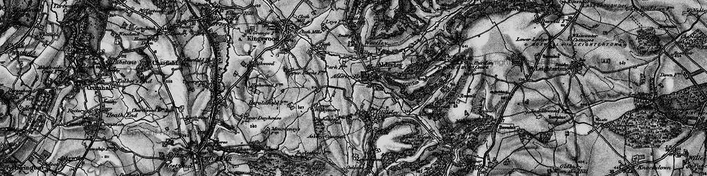 Old map of Alderley in 1897