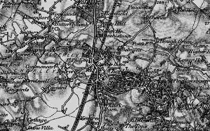 Old map of Alderley Edge in 1896