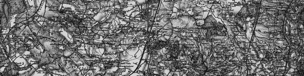 Old map of Alderley Edge in 1896