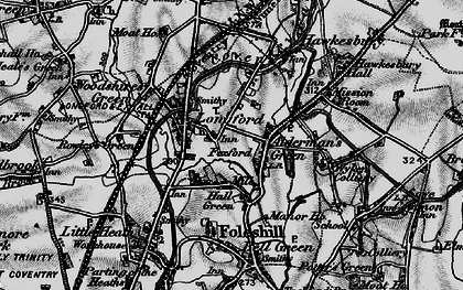 Old map of Alderman's Green in 1899
