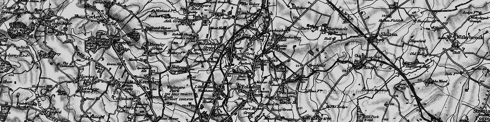 Old map of Alderman's Green in 1899