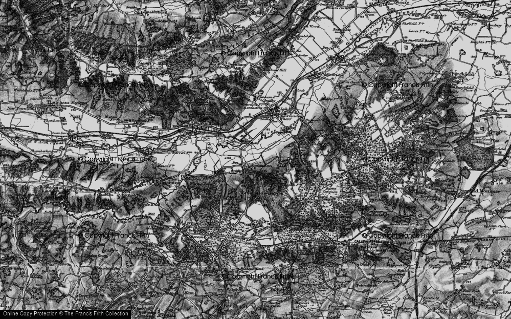 Old Map of Aldermaston, 1895 in 1895