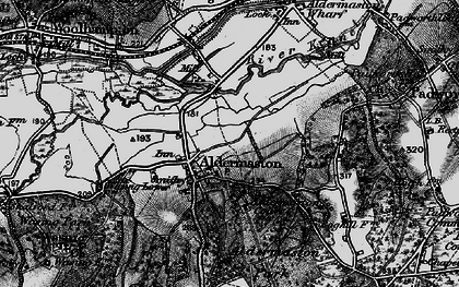 Old map of Aldermaston in 1895