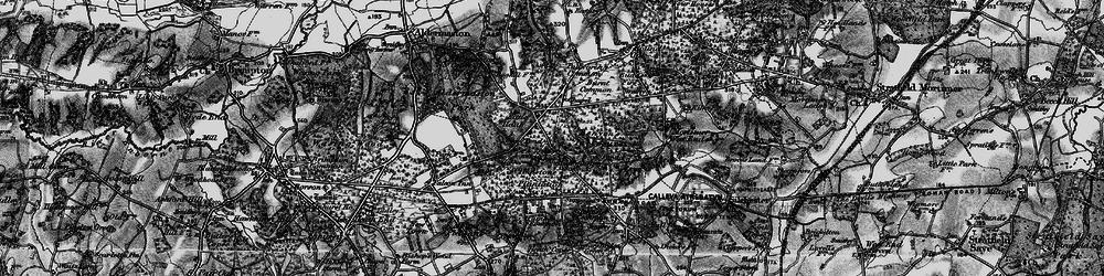 Old map of Aldermaston Soke in 1895