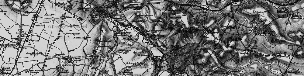 Old map of Alderminster in 1898