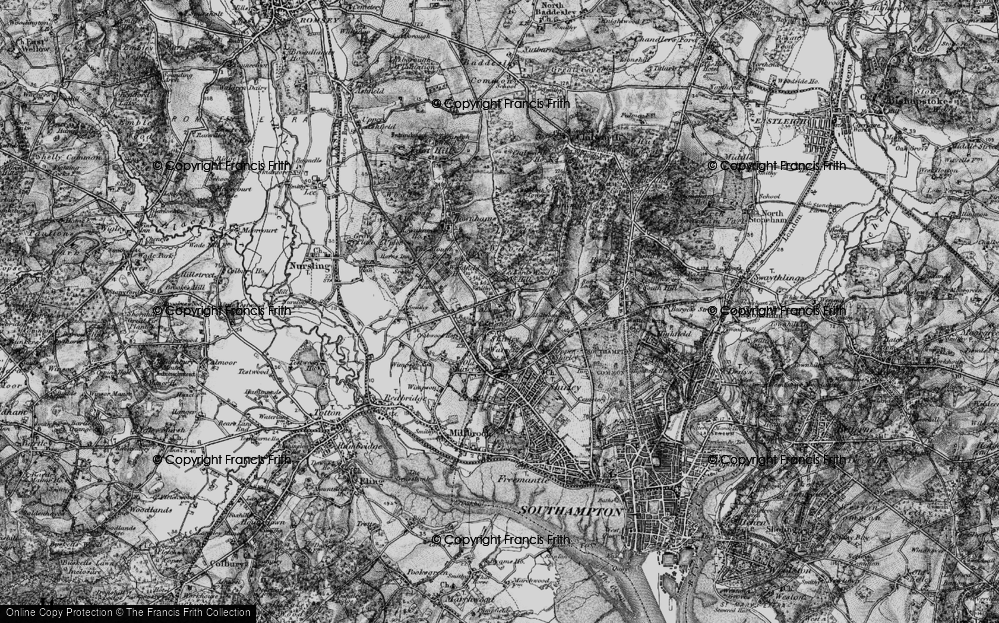 Old Map of Aldermoor, 1895 in 1895