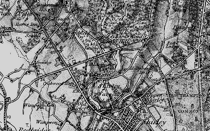 Old map of Aldermoor in 1895