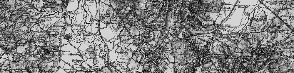 Old map of Aldermoor in 1895