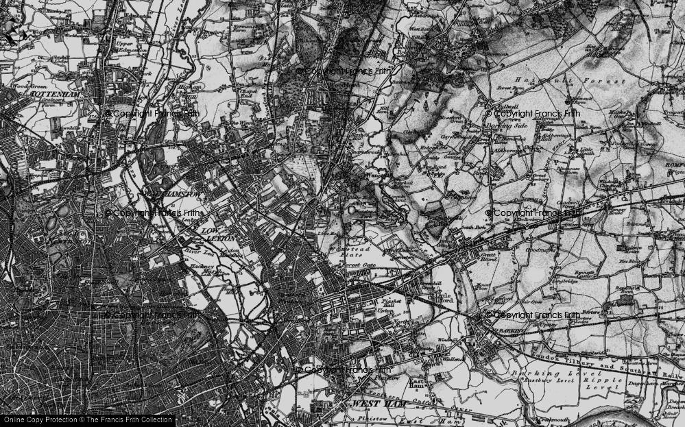 Old Map of Aldersbrook, 1896 in 1896