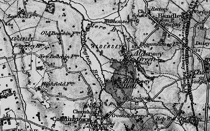 Old map of Aldersey Park in 1897