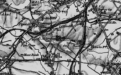 Old map of Aldershawe in 1898