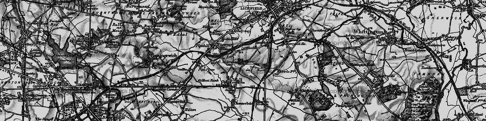 Old map of Aldershawe in 1898