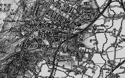 Old map of Aldershot in 1895