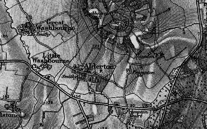 Old map of Alderton in 1896