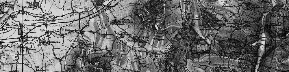 Old map of Alderton Hill in 1896