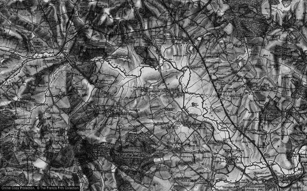 Old Map of Alderton, 1896 in 1896