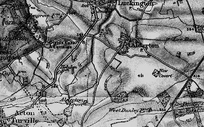 Old map of Alderton in 1898