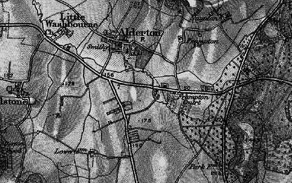 Old map of Alderton Fields in 1896