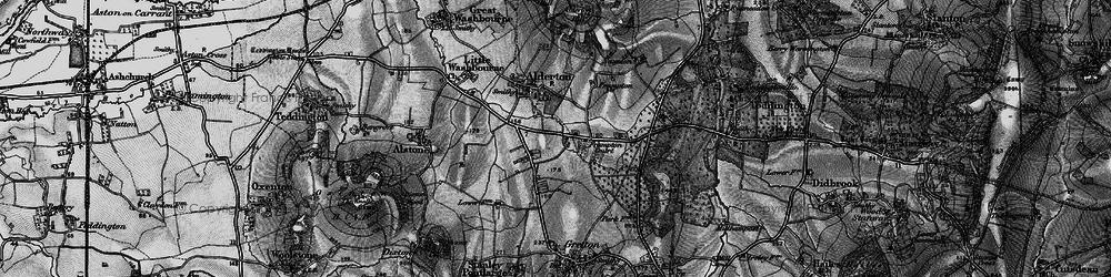 Old map of Alderton Fields in 1896