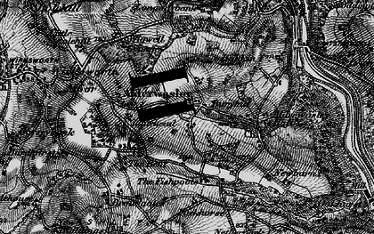 Old map of Alderwasley Hall (School) in 1895