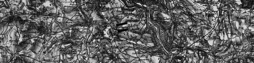 Old map of Alderwasley in 1895