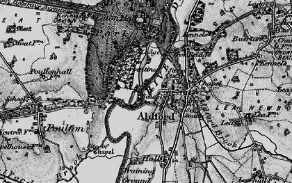 Old map of Aldford in 1897