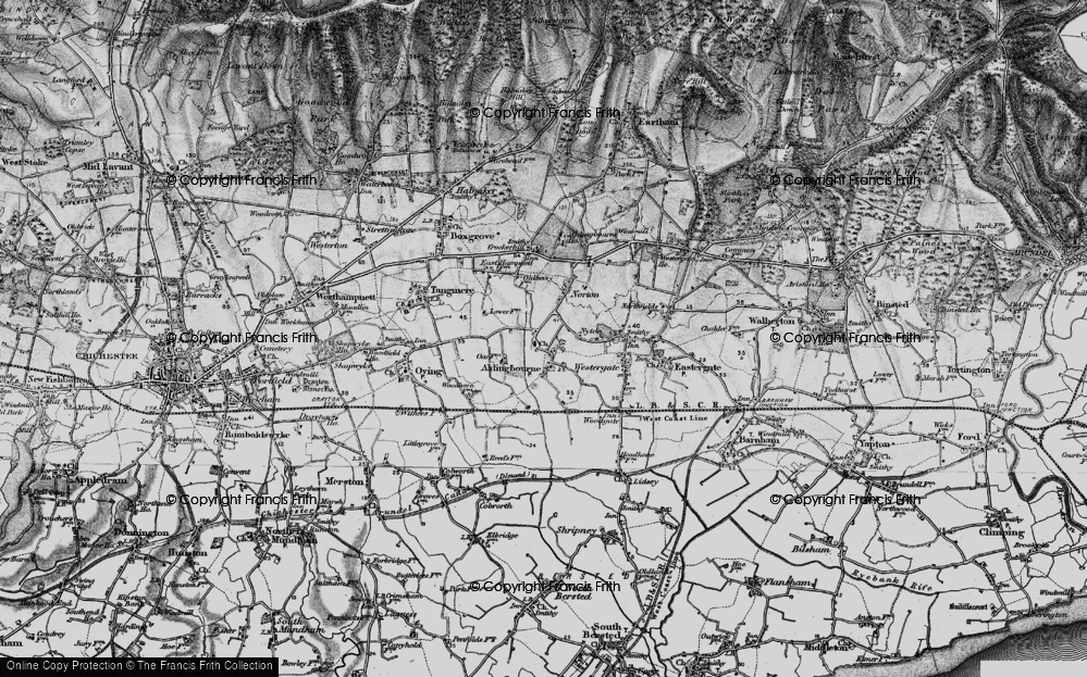 Old Map of Aldingbourne, 1895 in 1895
