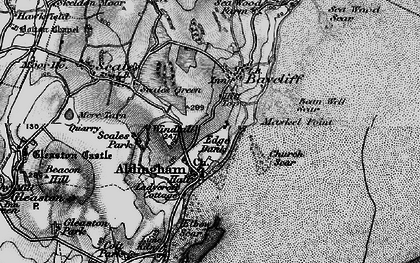 Old map of Aldingham in 1897