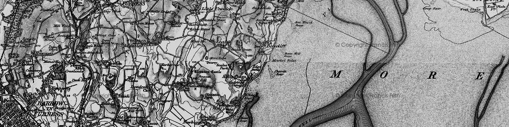 Old map of Aldingham in 1897