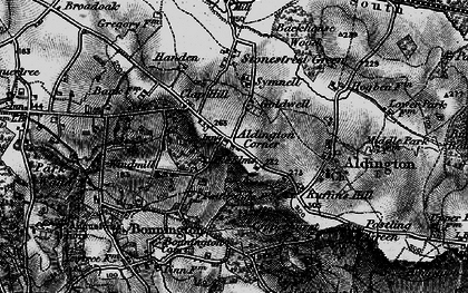 Old map of Aldington Knoll in 1895