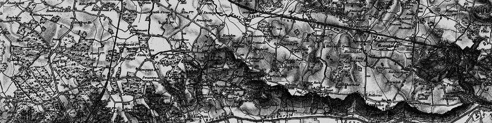 Old map of Aldington in 1895