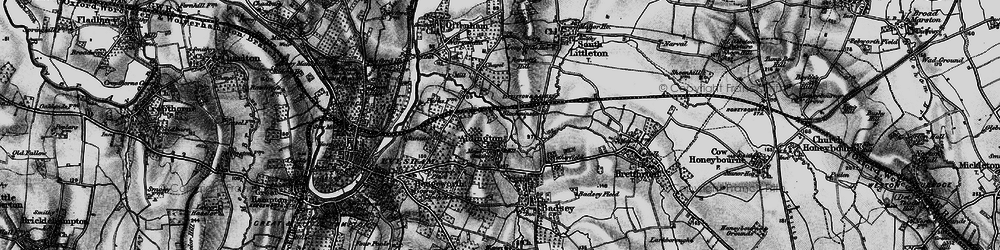 Old map of Aldington in 1898