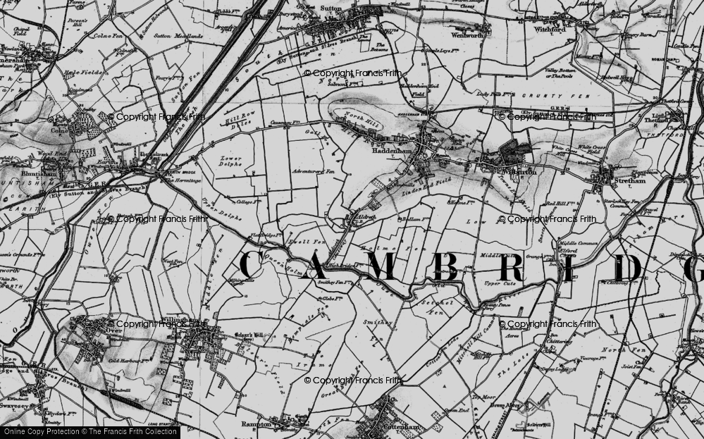 Old Map of Historic Map covering Adventurers' Fen in 1898