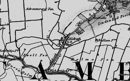 Old map of Adventurers' Fen in 1898