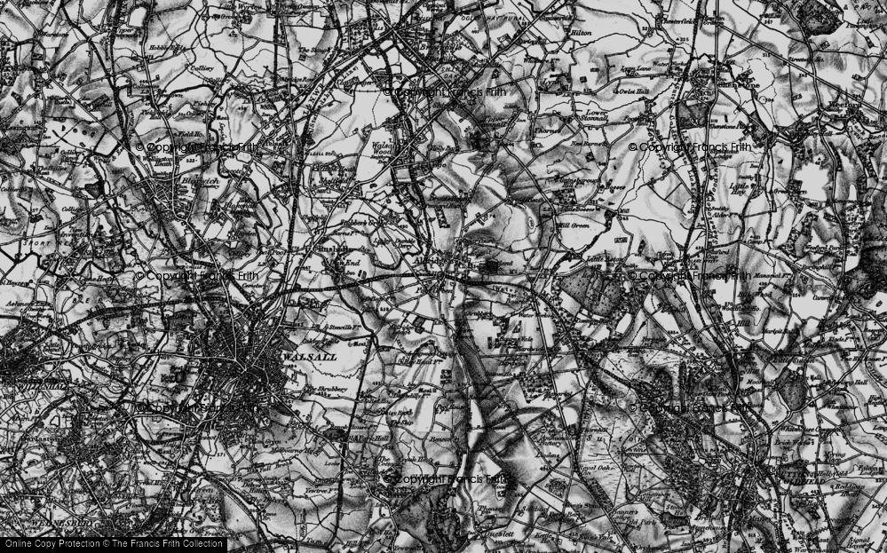 Old Map of Aldridge, 1899 in 1899